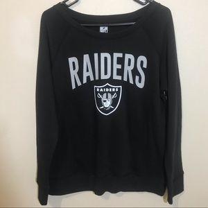 NWT Women's Raiders NFL Crewneck Pullover